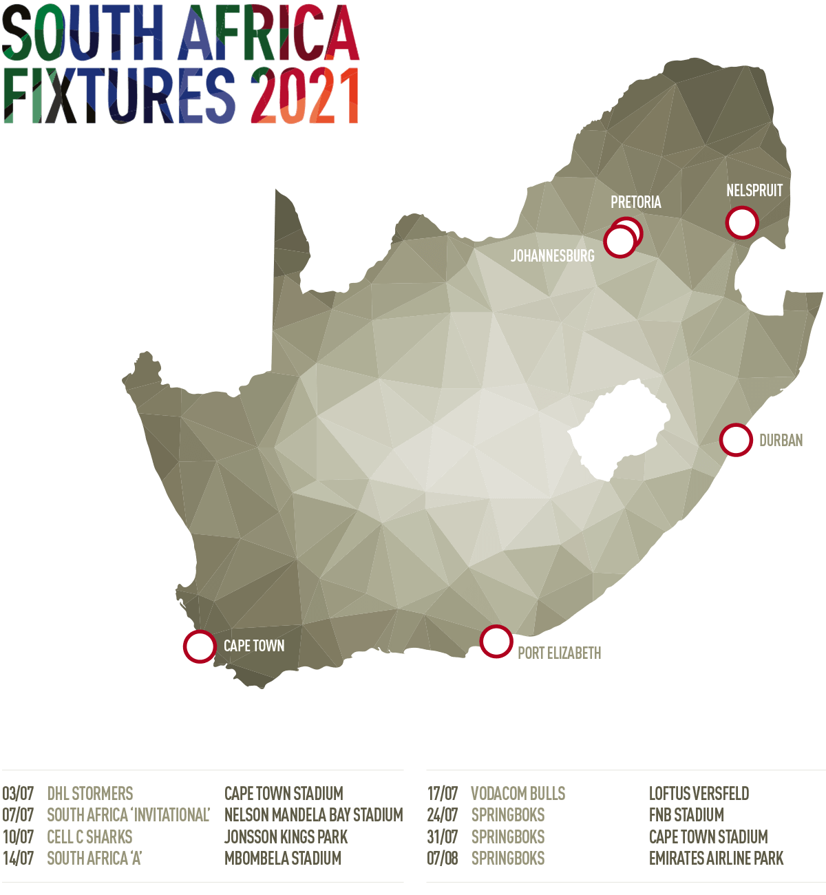 Lions Tour 2021 Dates Fixtures Schedule And Tv Channel For Eight Match Tour Of South Africa Diazhub
